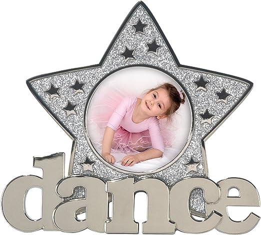 3x3 Malden International Designs Dance Glitter Star Metal Picture Frame Silver