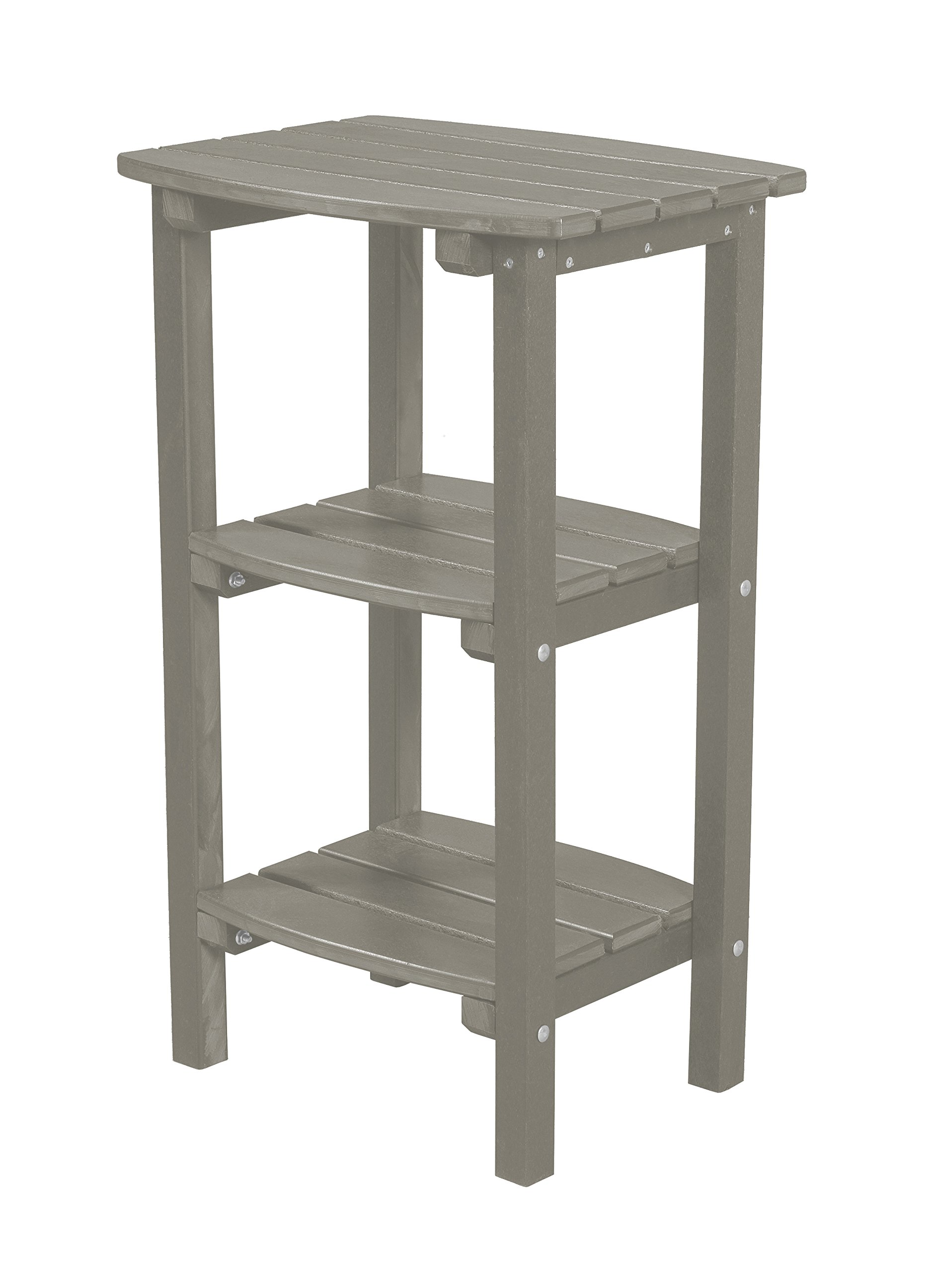 Little Cottage Company LCC-221 Classic 3 Shelf Side Table, Light Gray by Little Cottage Company