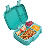 Bentgo Fresh (Aqua) – New & Improved Leak-Proof, Versatile 4-Compartment Bento-Style Lunch Box – Ideal for Portion-Control and Balanced Eating On-The-Go – BPA-Free and Food-Safe Materials