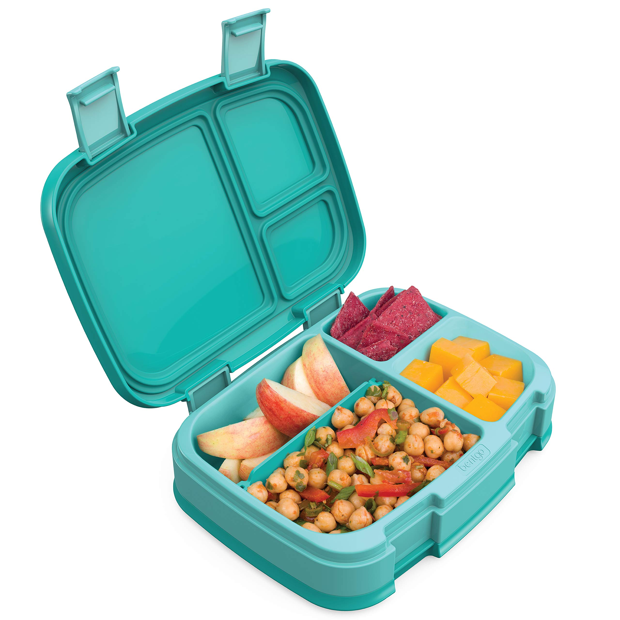 Bentgo Fresh (Aqua) – New & Improved Leak-Proof Versatile 4-Compartment Bento-Style Lunch Box – Ideal for Portion-Control and Balanced Eating On-The-Go – BPA-Free and Food-Safe Materials