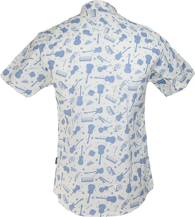 TRANKILO Camisa Estampado de Guitarras (M): Amazon.es: Ropa y accesorios