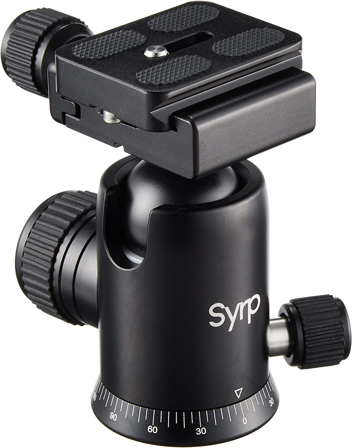 Syrp Ballhead, with a Quick Release Plate, 3/8 UNC Thread and 2 Bubble Levels, Compatible with Most DSLR, Mirrorless - Aluminium