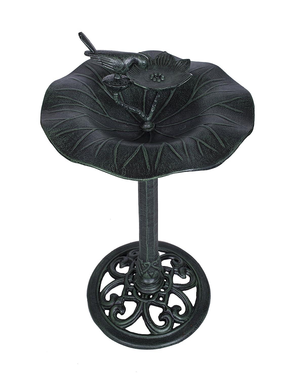 Lily Pad im Antik Stil aus Metall Outdoor Dekorative Vogeltränke