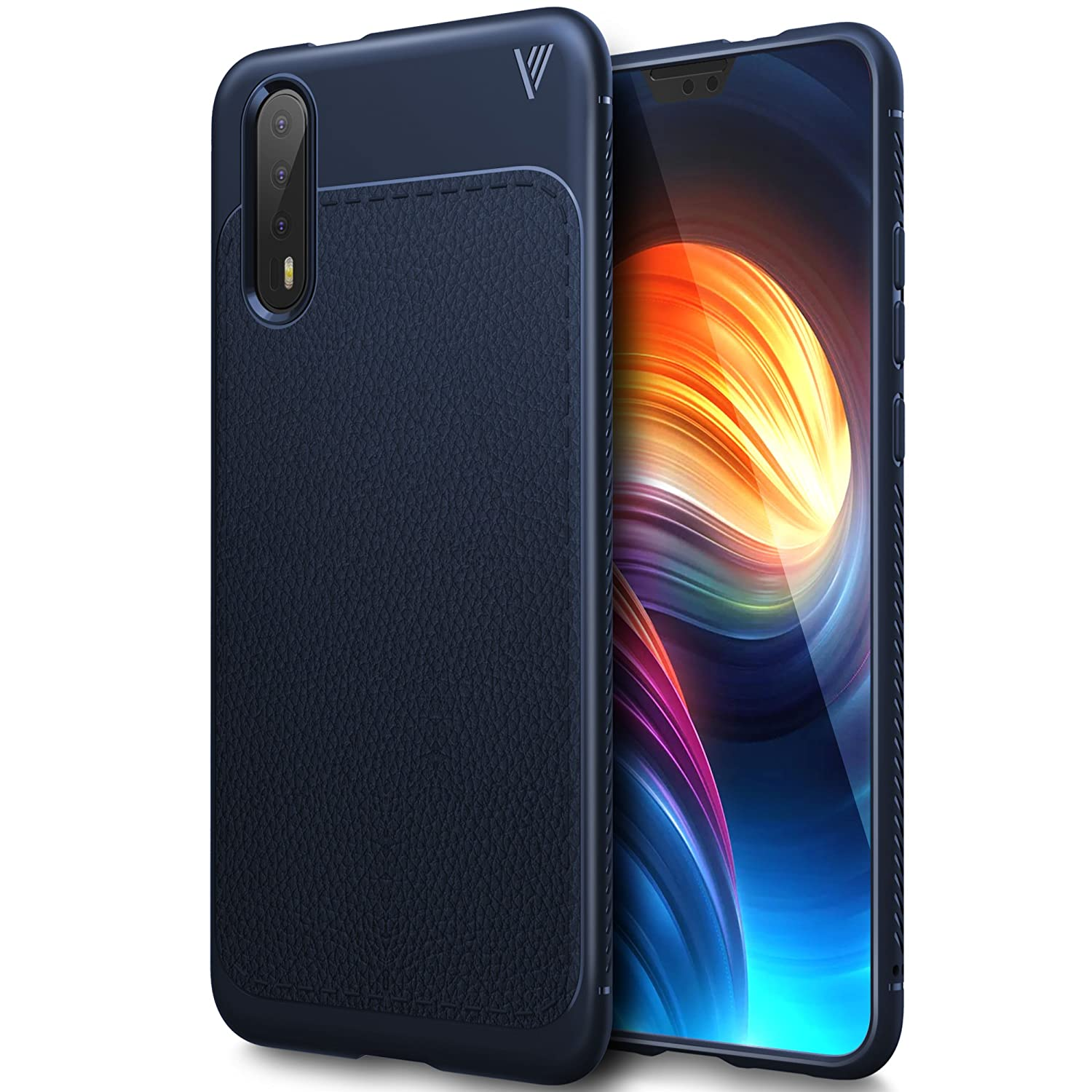 Huawei P20 case, KuGi Huawei P20 case, SS [Scratch Resistant] Premium Flexible Soft Anti Slip TPU Case for Huawei P20 Smartphone(Navy)