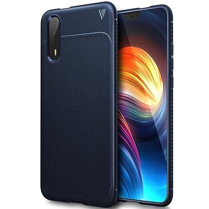 Huawei P20 case, KuGi Huawei P20 case, SS [Scratch Resistant] Premium Flexible Soft Anti Slip TPU Case for Huawei P20 Smartphone(Navy)