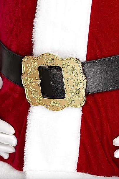 SANTA Cintura Fibbia in Ottone Massiccio Babbo Natale Pirata Costume Da Pompiere-per