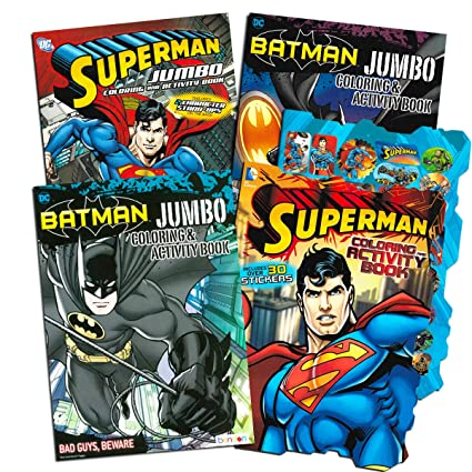 Amazon.com: Justice League Batman and Superman Coloring Book Super ...