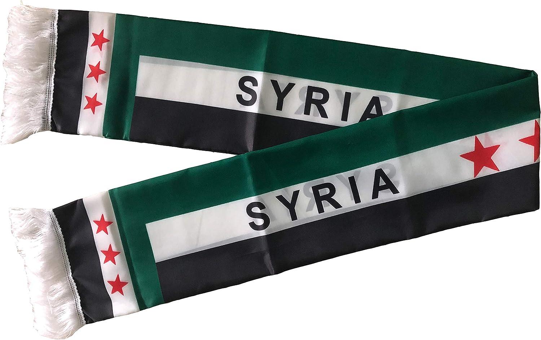Unisex Syria Flag Scarf Arabian Shemagh Shawal Desert Tactical Fashion Wrap Syrian Keffieh Hatta