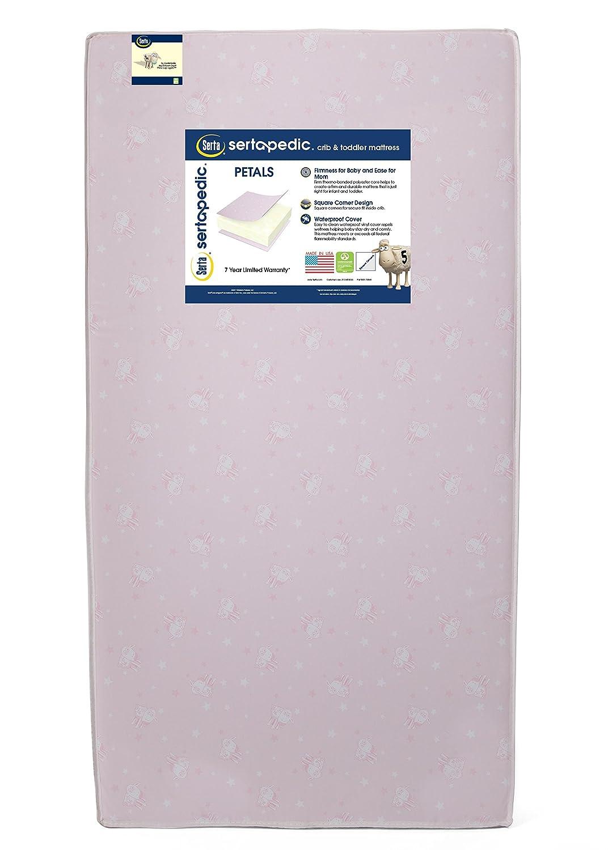 Serta Sertapedic Petals Fiber Core Crib and Toddler Mattress | Waterproof | Lightweight| GREENGUARD Gold Certified (Natural/Non-Toxic) Simmons WI Ship point A41102-3190