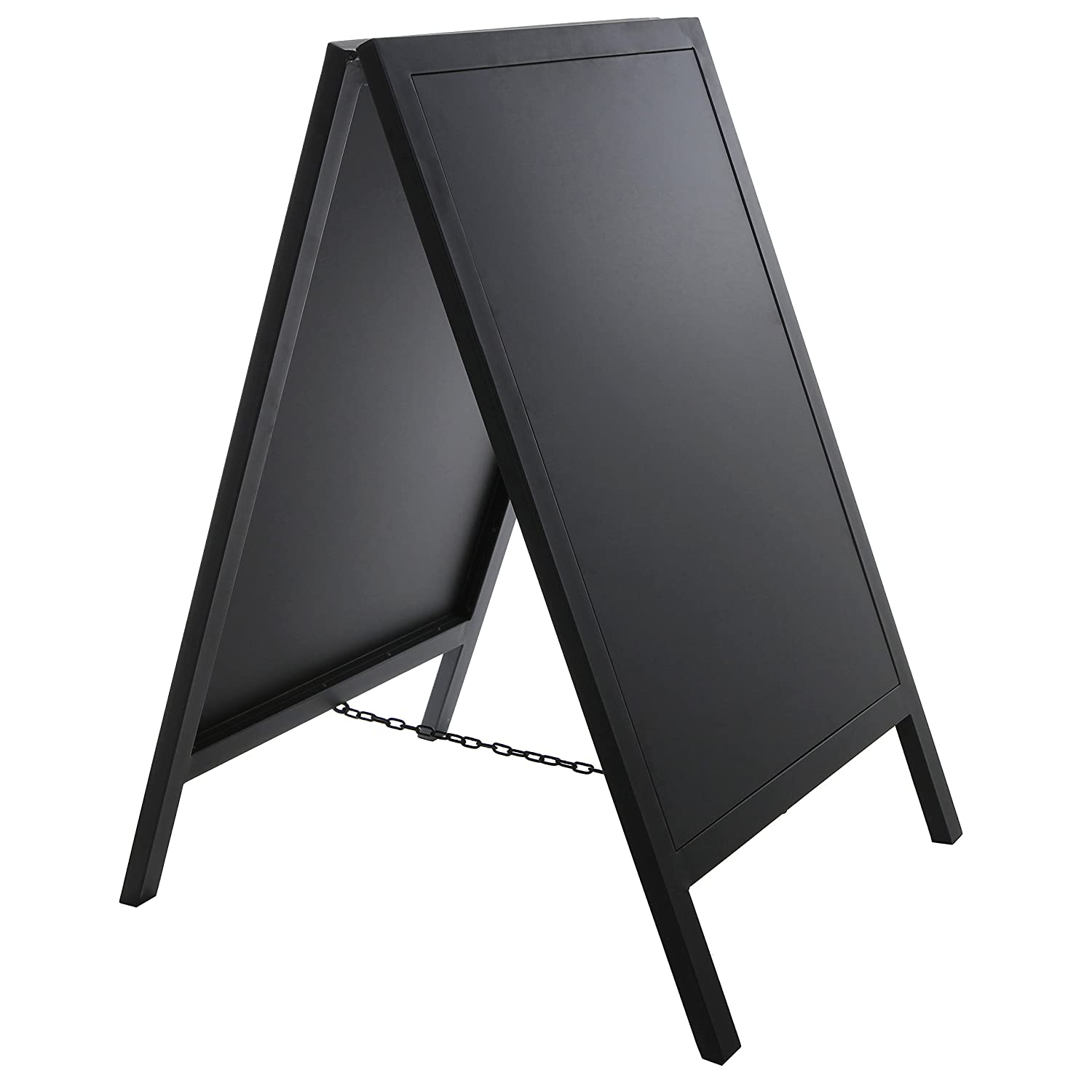 Amazon.com : Stand Alone Black Metal A Frame Erasable Chalkboard ...