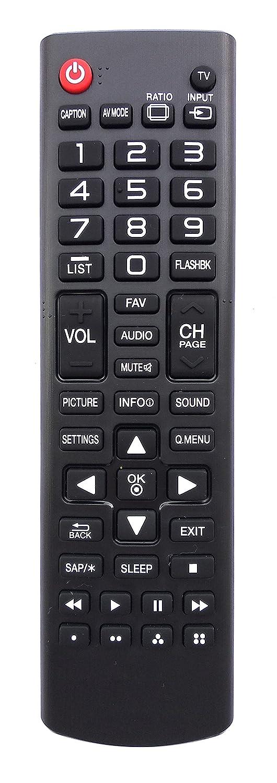 ユニバーサルリモートコントロールfor LGテレビ40lh5000 42lf5600 43lj5500 49lf5100 49lf5400 49lf5500 49lj550 m 49uf6700 50lf6000 55lf6000 55lj5500 55lj550 m   B07DTG74KW
