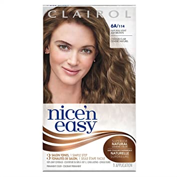 Clairol Nice U0027n Easy, 6A/114 Light Ash Brown, Permanent Hair Color