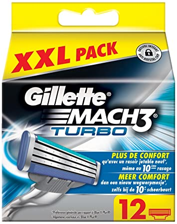 Gillette Mach3 Turbo X - Recambios para cuchilla de afeitar, 5 unidades: Amazon.es: Belleza