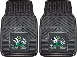 "product image for FANMATS 8749 NCAA Notre Dame Fighting Irish Vinyl Heavy Duty Car Mat,Black,18""x27"""