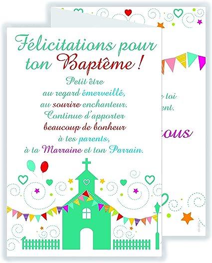 Afie 69 3931 Carte 3 Volets Félicitations Pour Ton Baptême