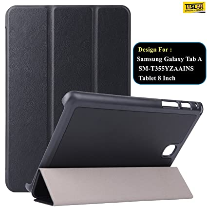 3cc7f44cf0 Taslar Synthetic Leather Flip Cover Case For Samsung Galaxy Tab A  SM-T355YZAAINS Tablet 8 Inch (Black) - Buy Taslar Synthetic Leather Flip  Cover Case For ...
