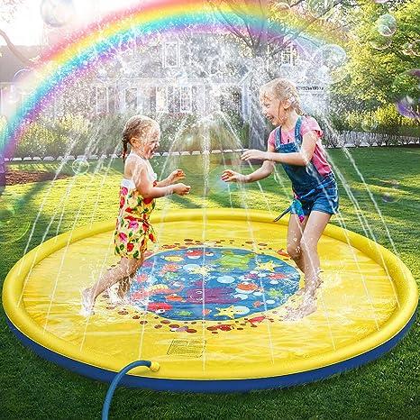 Giochi D Acqua.Jojoin 68 Bambini Giochi D Acqua Splash Play Mat Sprinkler Pad Gioco Di Spruzzi D Acqua Tappetino Portatile Durevole Giardino Piscina Estivo
