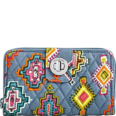 3f8f00db9c Image Unavailable. Image not available for. Color  Vera Bradley Women s  Rfid Turnlock Wallet Painted Medallions Wallets ...