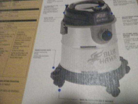 Blue Hawk 5-Gallon 4-HP Peak-HP Shop Vacuum Item#461678 Model# 8255519 UPC# 871613006297 - Shop Wet Dry Vacuums - Amazon.com