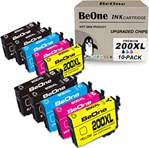 BeOne Remanufactured Ink Cartridge Replacement for Epson 200 XL 200XL T200 T200XL 10-Pack Use with Workforce WF-2540 WF-2530 WF-2520 Expression Home XP-200 XP-410 XP-310 XP-400 XP-300 (2BK 1C 1M 1Y)