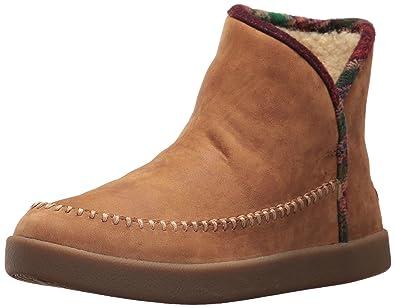 Sanuk Women's Nice Bootah LX Ankle Bootie, Tobacco/Vintage Rainbow, ...