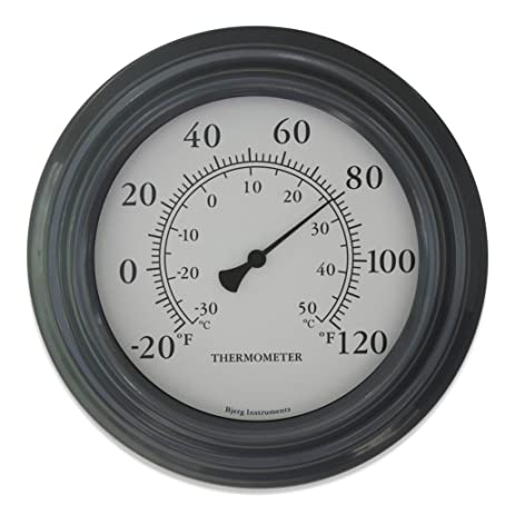 Nice Gray Finish 8u0026quot; Decorative Indoor / Outdoor Patio Thermometer