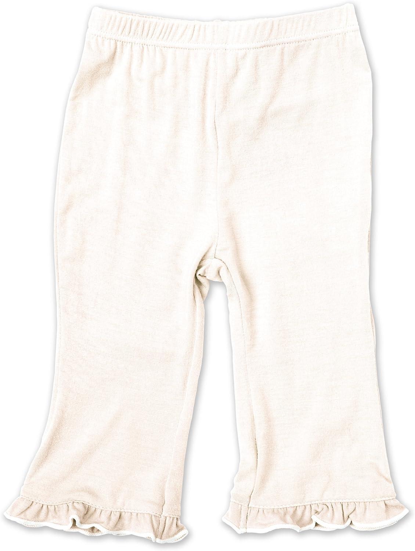 KicKee Pants Little Girls Print Ruffle Pant 12-18 Months Natural