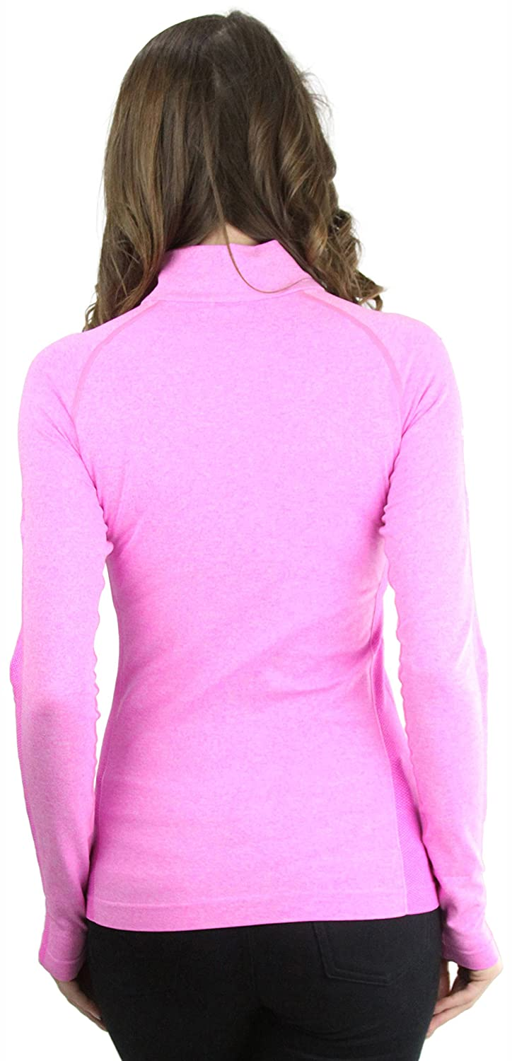 ToBeInStyle Womens 1//4 Zip up Long Sleeve Active Pullover Top