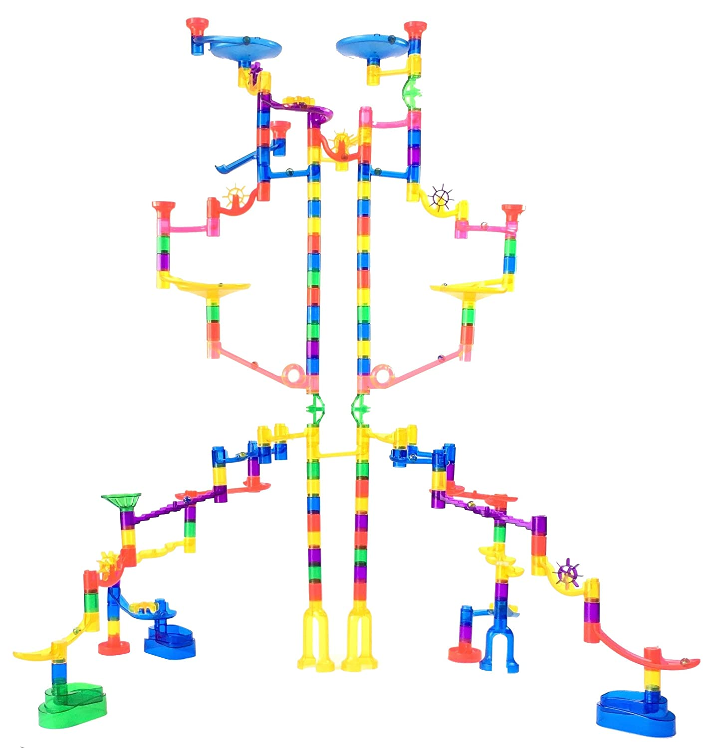 Marble Genius Marble Run Extreme Set - 125 Translucent Marbulous Pieces + 20 Glass Marbles Review