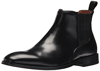 Florsheim Men's Belfast Plain Toe Gore Chelsea Boot Black 7 D US