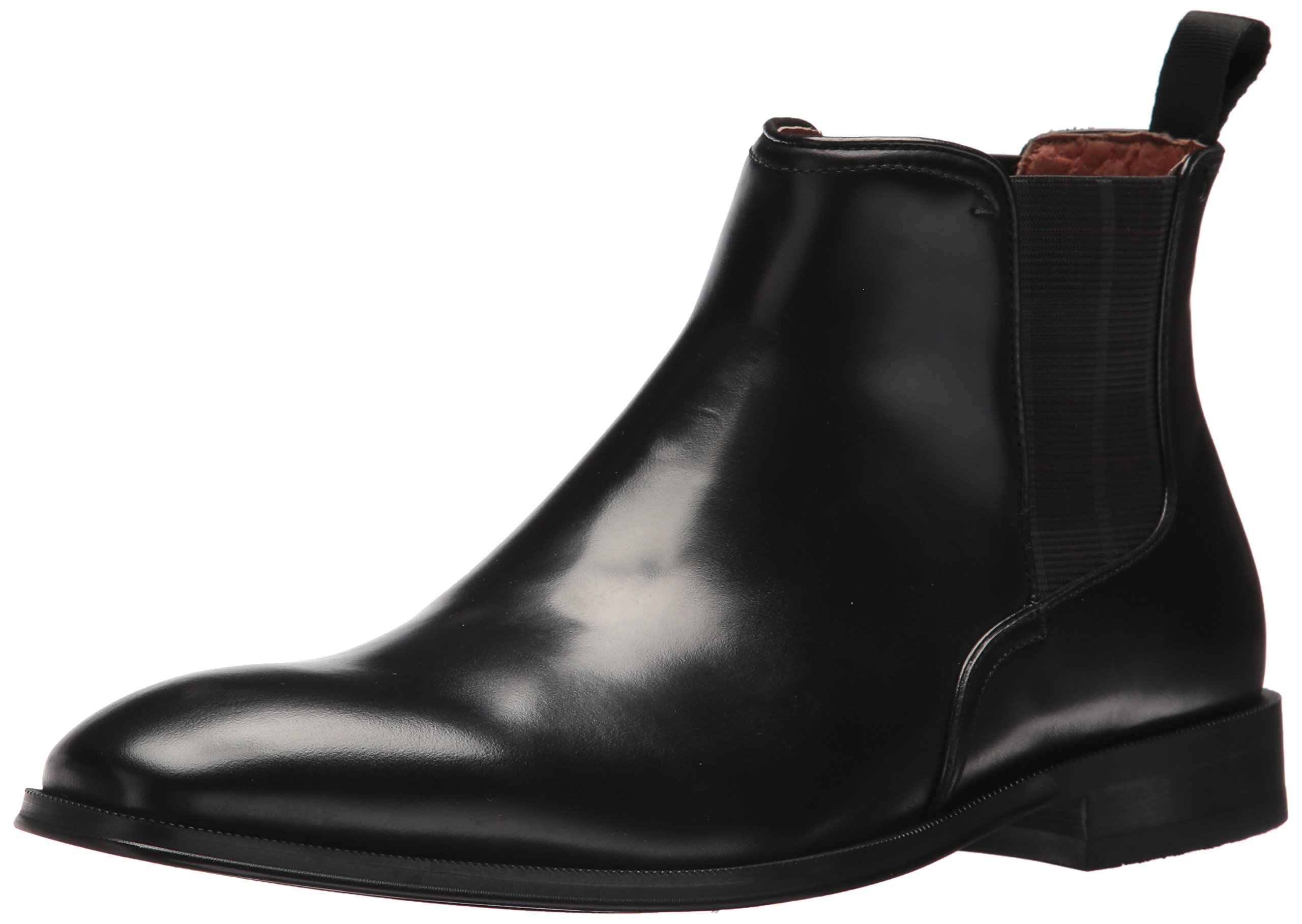 Florsheim Men's Belfast Plain Toe Gore Chelsea Boot, Black (11 D)