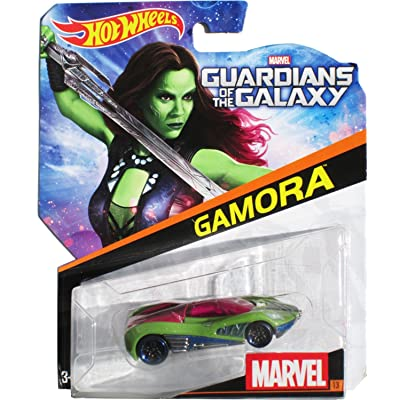 Hot Wheels, Marvel Die-Cast Car, Gamora #13, 1:64 Scale: Toys & Games