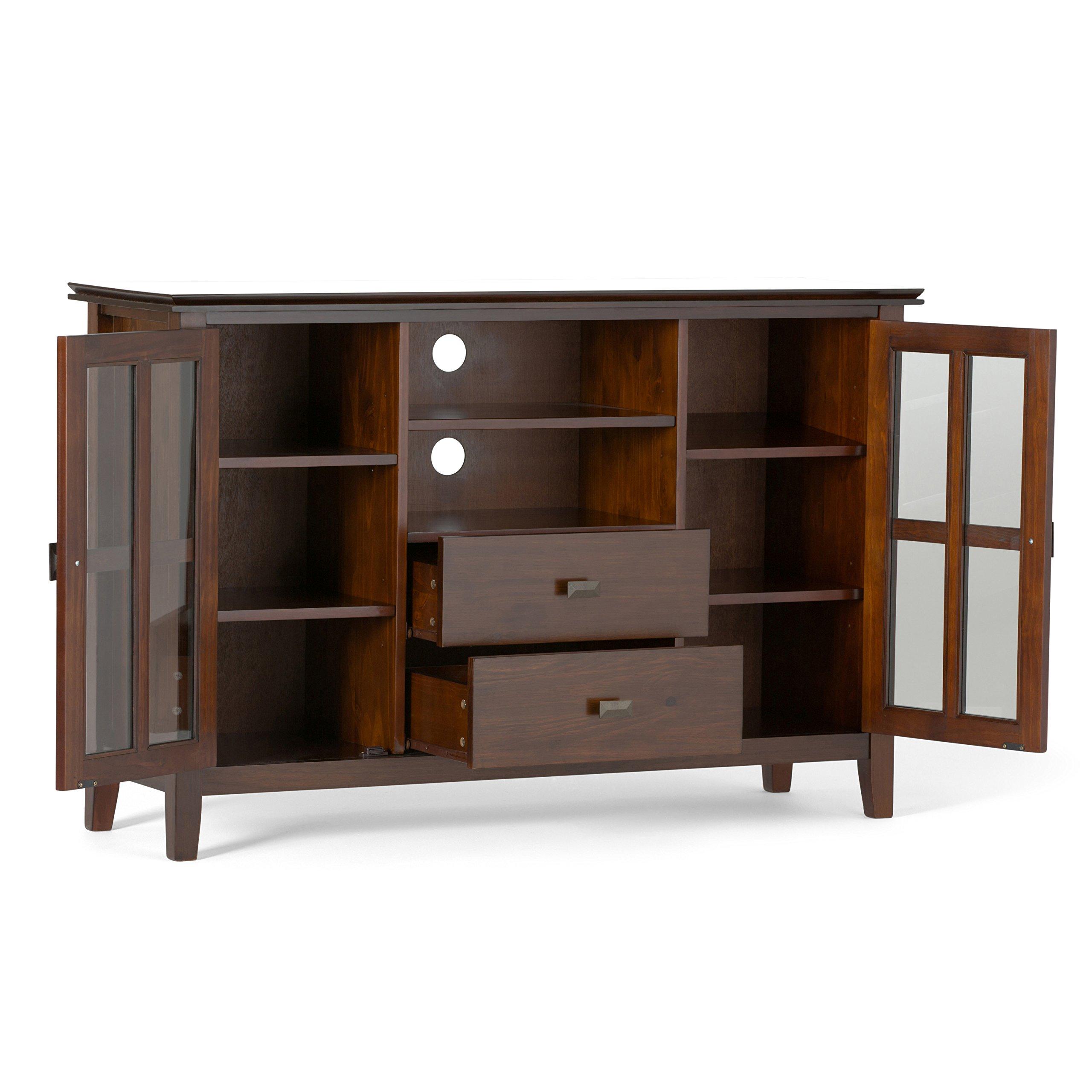 Simpli Home Artisan TV Media Stand for TVs up to 60'', Medium Auburn Brown by Simpli Home (Image #3)