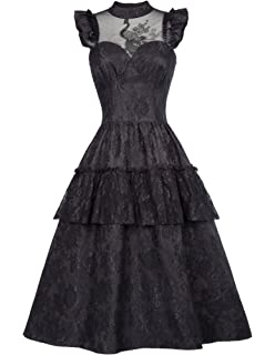 584072e306de Belle Poque Steampunk Gothic Victorian Long Dresses High Waist Women ...