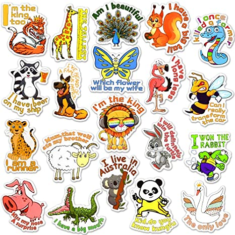#139 Water Bottles 50pcs Cartoon Sticker Pack For Laptop Bullet Journal,Scrapbook Waterproof Stickers