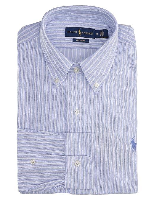 Camisa Polo Ralph Lauren Oxford De Punto Azul para Hombre M Azul ...