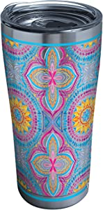 Tervis Bright Mandala Stainless Steel Insulated Tumbler with Lid, 20 oz, Silver