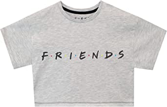 Friends Camiseta de Crop de Manga Corta para Niñas