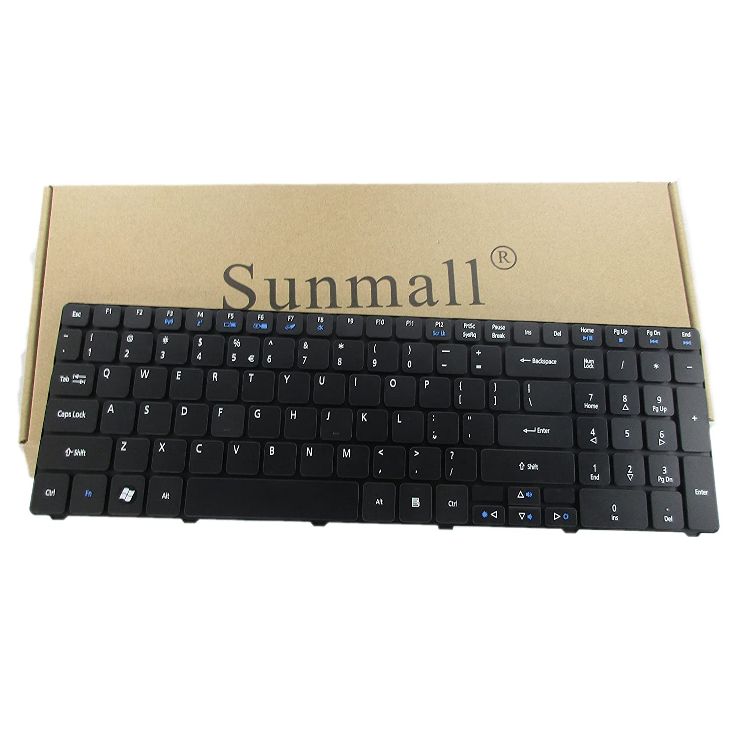 71e81c4cf905d SUNMALL a6 Laptop Keyboard Replacement for Acer Aspire for 5250 5251 5253  5336 5551 5552 5560