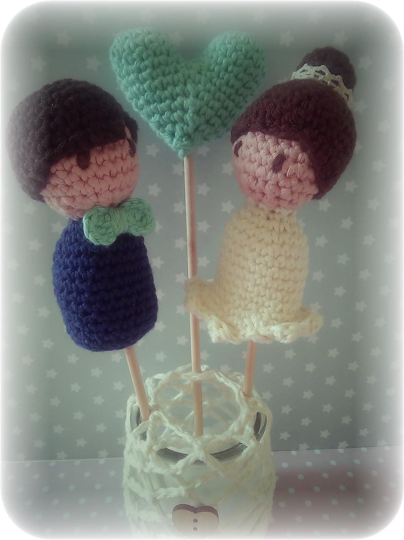 Pareja de Novios con Corazón Personalizables, a crochet ...