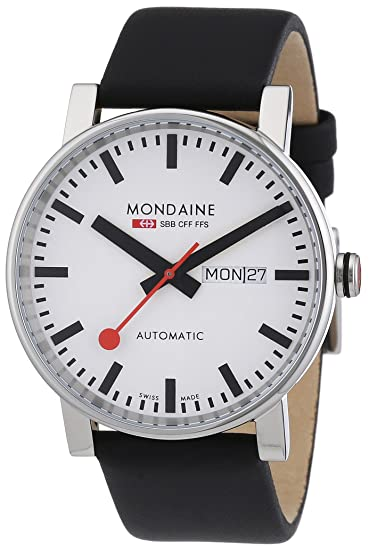 c3faef12ac66 Mondaine SBB Evo Automatic 40mm A1323034811SBB Reloj de pulsera Automático  Hombre correa de Cuero Negro  Amazon.es  Relojes
