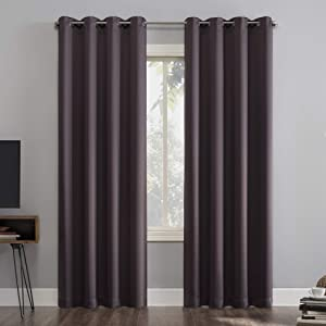 Sun Zero Nordic 2-Pack Theater Grade Extreme Total Blackout Grommet Curtain Panel Pair, 52