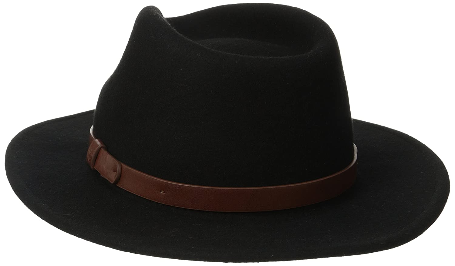 d65edf75 Amazon.com: Brixton Men's Messer Medium Brim Felt Fedora Hat: Clothing