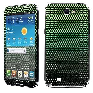 Samsung [Galaxy Note 2] Skin [NakedShield] Scratch Guard Vinyl Skin Decal [Full Body Edge] [Matching WallPaper] - [Mesh Green] for Samsung Galaxy [Note 2]