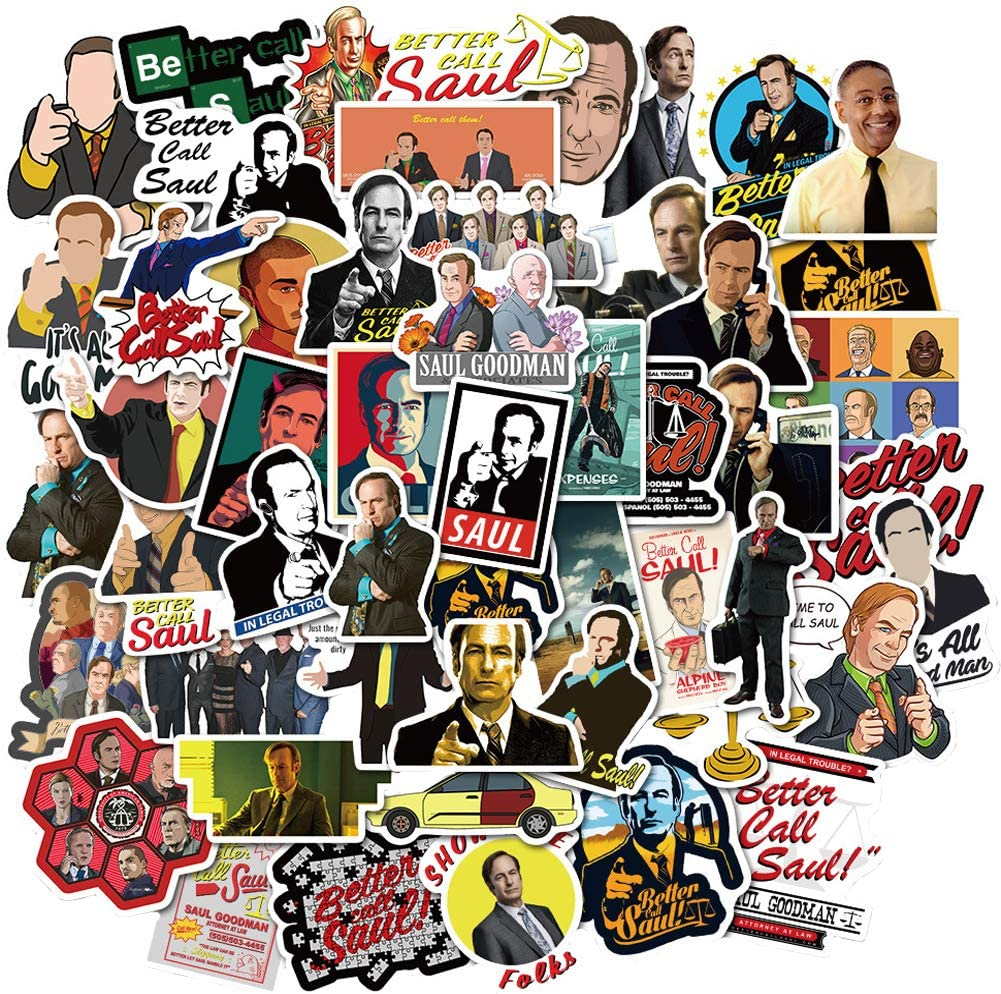 Better Call Saul TV Show Theme Stickers Laptop Stickers Water Bottles Stickers Computer Vinyl Stickers Decal Graffiti Patches Decal
