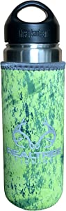 Koverz Neoprene 24-30 oz Water Bottle Insulator, Water Bottle Holder Cover Cooler Coolie for Stainless and Plastic Bottles - Realtree Fishing Yellow