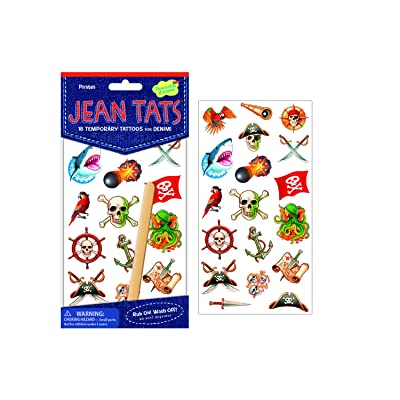 Peaceable Kingdom Ahoy, Pirates! Temporary Tattoos: Toys & Games