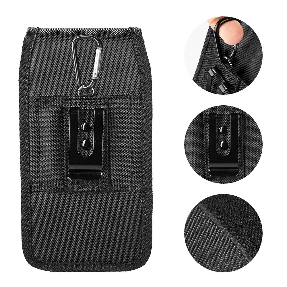 AIScell Metal Belt Clip Holster For Iphone 8 Plus, 7 Plus,6S/6 Plus ~Extra Large Ultra Rugged Pouch Nylon Canvas Case (Fit Phone With Lifeproof,Otterbox Defender,Battery Case,Thick Hybrid Cover) by AIScell (Image #1)