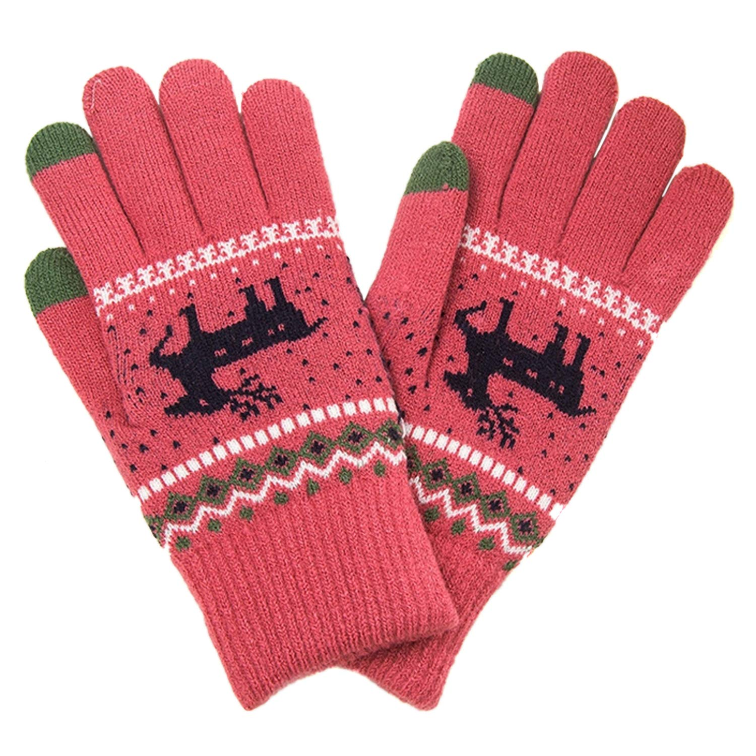 Pink TouchScreen Gloves for Women - Winter Texting Gloves with Touch Screen