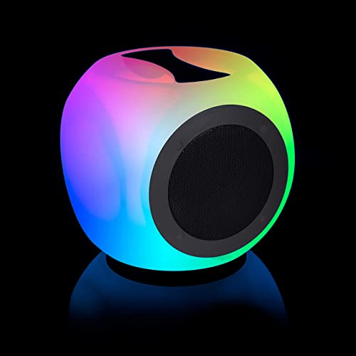 NVX GlowXR3 Portable Bluetooth Glow Speaker - Color Changing LEDs with Remote - Loud Stereo Sound and Crisp Bass - IPX4-12 Hour Playtime